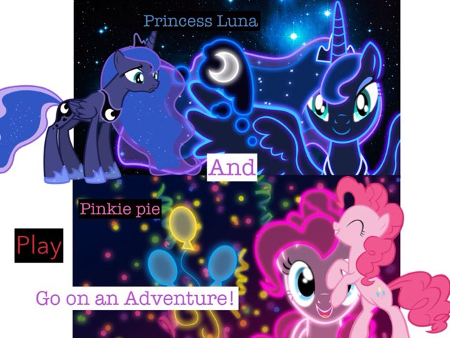 Princess Luna And Pinkie Pie Go On An Adventure! by Mohammad isha