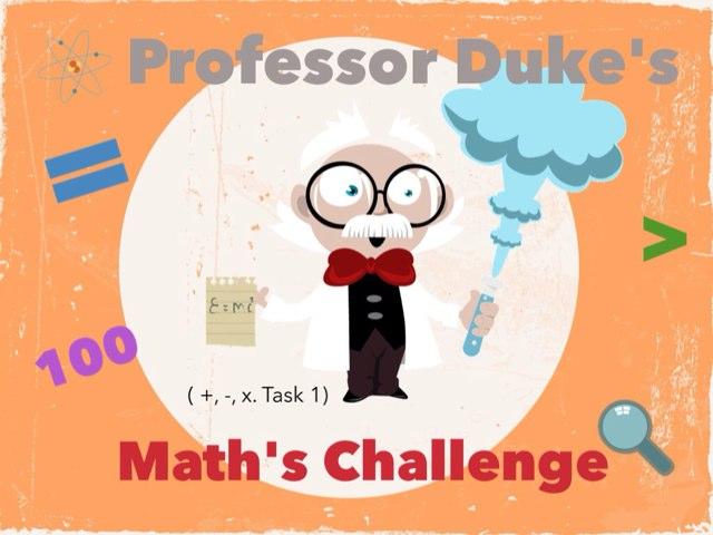 Professor Duke's Math's Challenge by Luke Evans