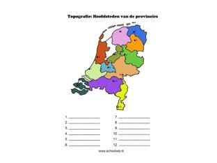 Provincies En Hoofdsteden by Wendy Kuiters