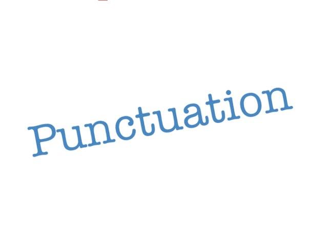 Punctuation by Krystal Wiggins