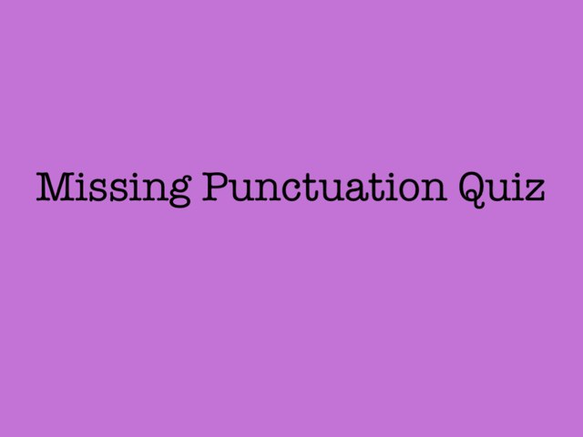 Punctuation by Theresa Peacock