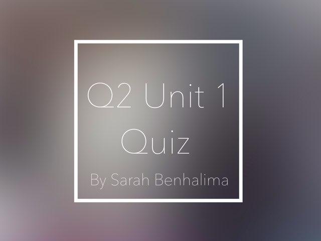 Q2U1 by Sarah Benhalima