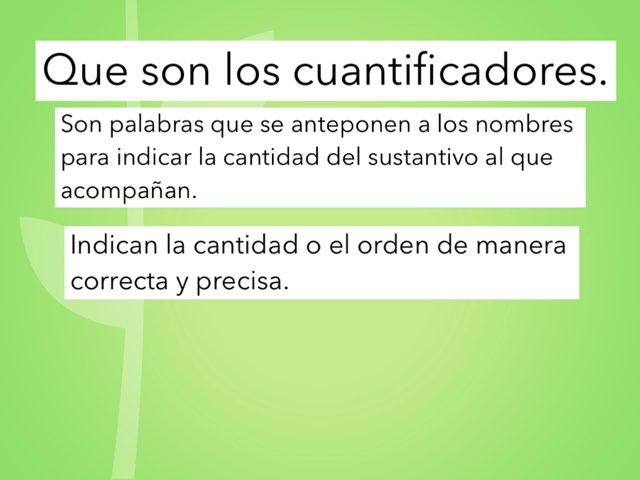 Que Son Los Cuantificadores? by Mateu Homar Munar