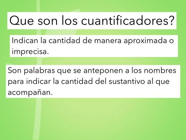 Que Son Los Quantificadores? by Mateu Homar Munar