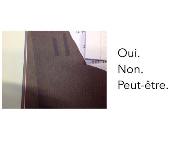 Questions Trois Petits Riens by Les Marronniers