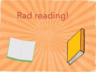 Rad Reading! by Sarah Mangel-Mammucari