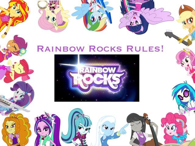 Rainbow Rocks Puzzle Time!! by Vinyl  Scratch