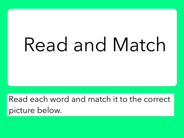 Read And Match by Julie Gittoes-Henry