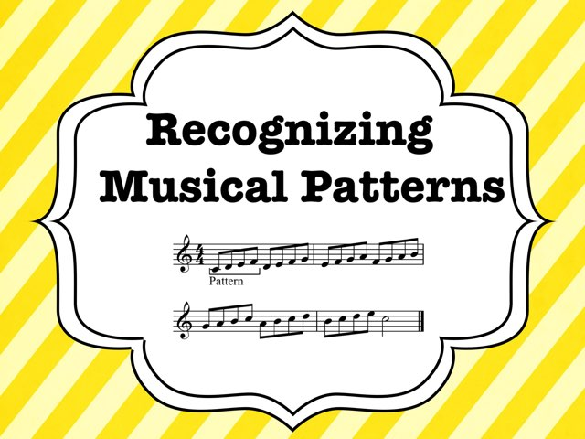 Recognizing Musical Patterns by A. DePasquale
