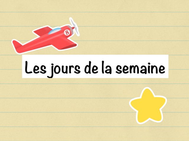Reconnaissance Des Jours De La Semaine by Seve Haudebourg