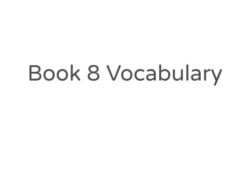 Red Book 8 vocabualry by MaryAnne Roberto