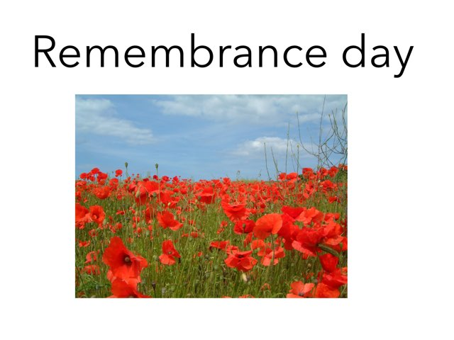 Remembrance Day by Tina zita