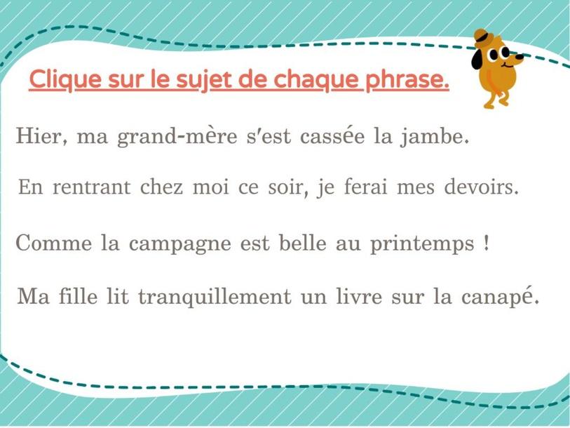 Repérer le sujet by DUFOUR CECILE