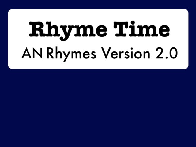 Rhyme Time (AN Rhymes 2.0) by Katherine Rackliff