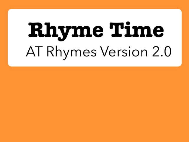 Rhyme Time (AT Rhymes 2.0) by Katherine Rackliff