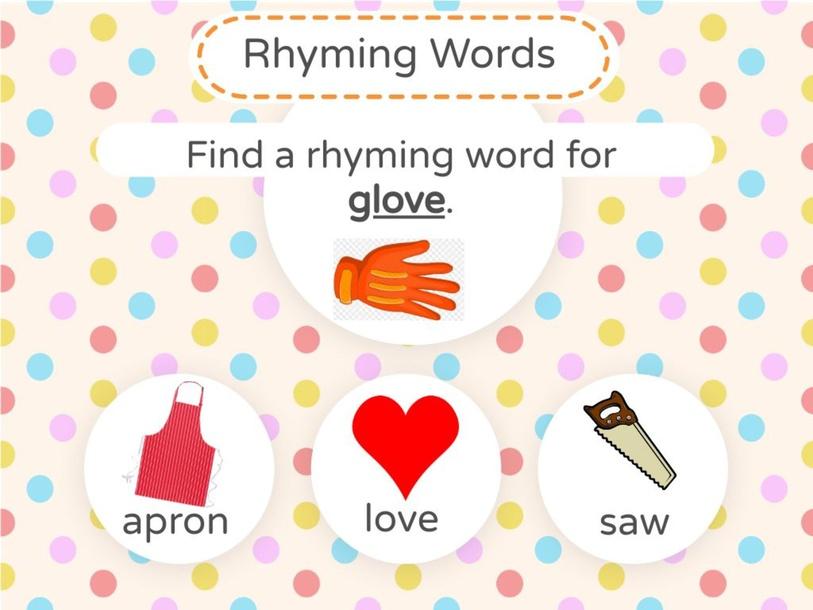 Rhyming words Chart 11 by Jenny Bustillos