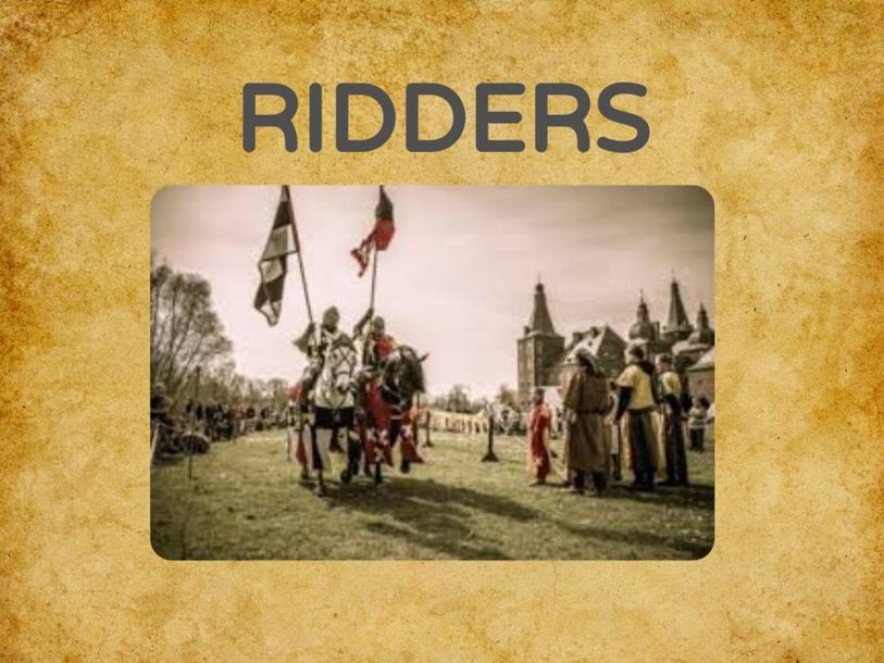 Ridders by Bronwen De Cock