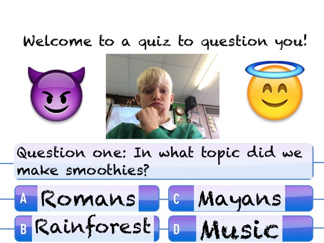 Robbie's Quiz That Will Question You!!! by Mr Matthews