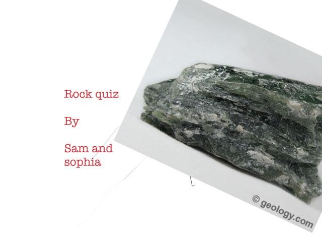 Rock Quiz By Sam & Sophia by Arlene Gregersen