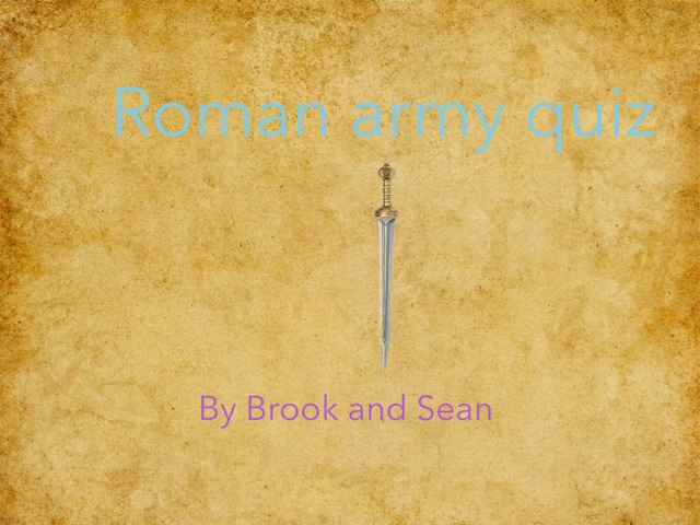 Roman Armour Quiz by Fiona Crean