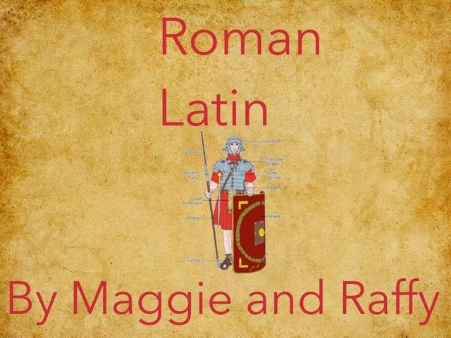 Roman Latin Quiz by Fiona Crean