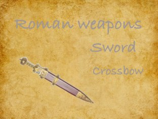 Roman Weapon Game by Fiona Crean