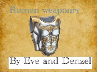 Roman Weapons by Fiona Crean