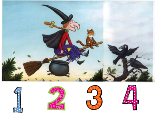 Room on the broom numbers and animals by Miss Flor