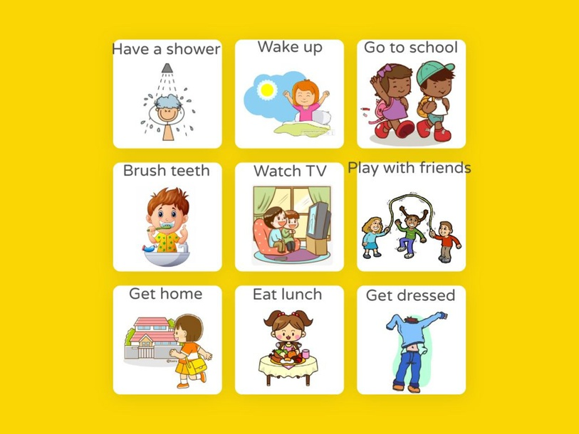 Routine Activities Matching Game by Suelen Dias