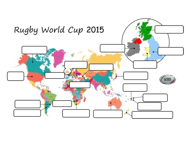 Rugby World Cup 2015  Map Of Teams by Mrs Savourat