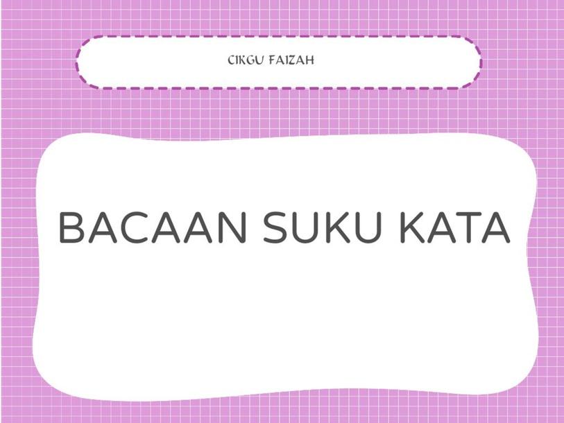 SUKU KATA by Nurul Abdullah