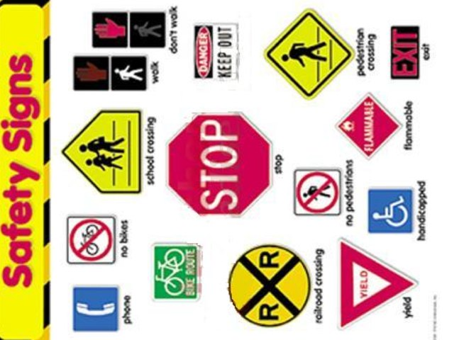 Safety Signs Learn & Quiz by Wendy Hazelwonder