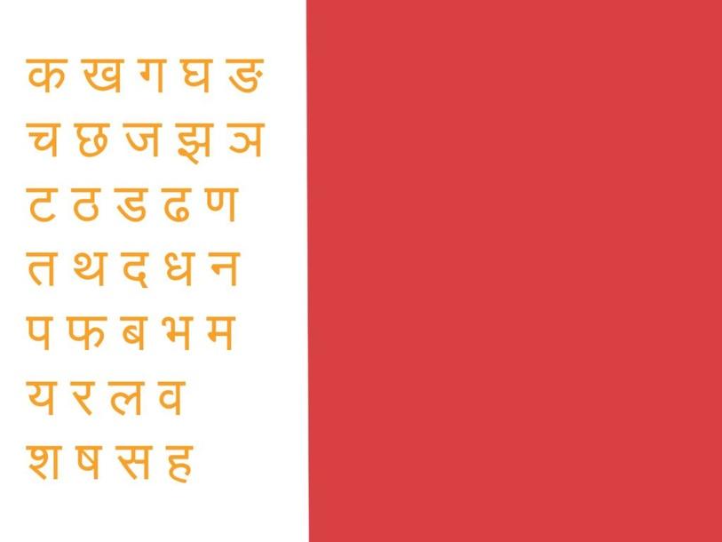 Samskrit Alphabet by Hari das
