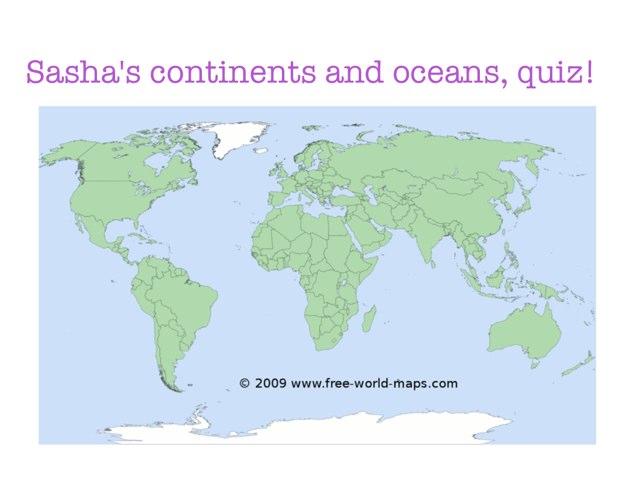Sasha's Map Quizzes 5B by Rebecca Vetnes