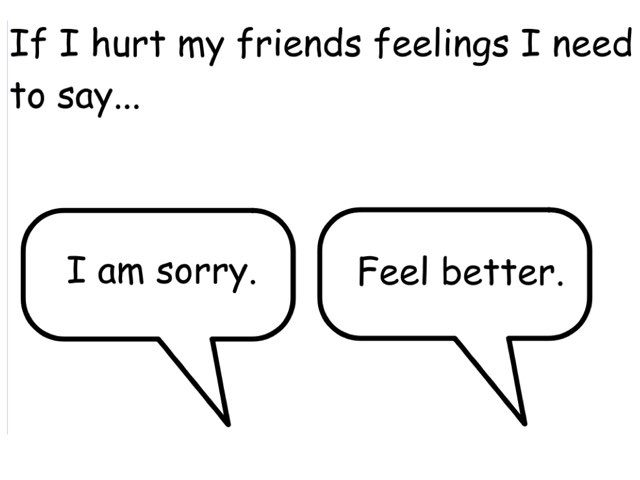 Saying Sorry by Bethany Hentgen