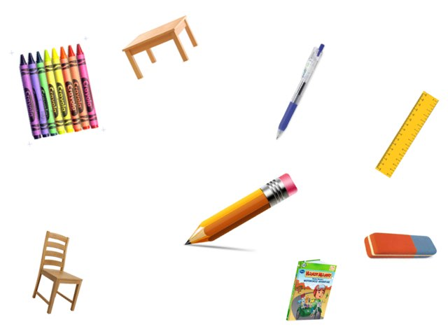 School Objects by Elena Campillo Dominguez