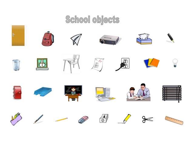 School objects by Mrs Savourat