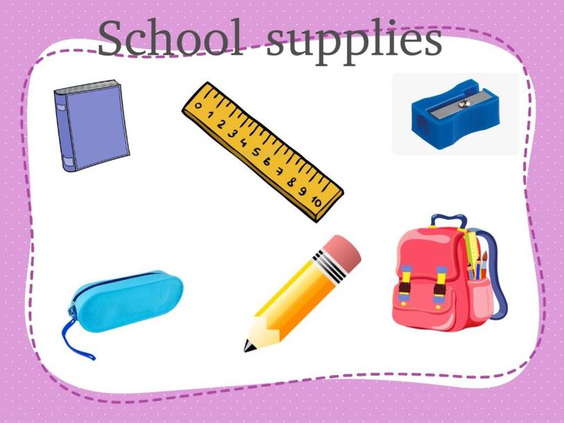 School supplies by Constanza Cerda