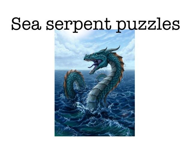 Sea Serpant Puzzles by Piper Kolafa