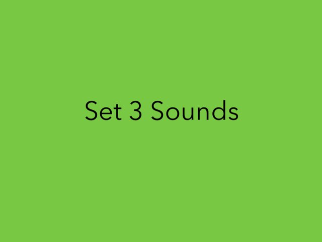 Set 3 Sounds by Heather Cooper
