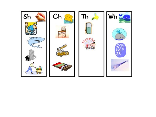 Sh Ch Th Wh Diagraph Sort by Deborah Fletcher