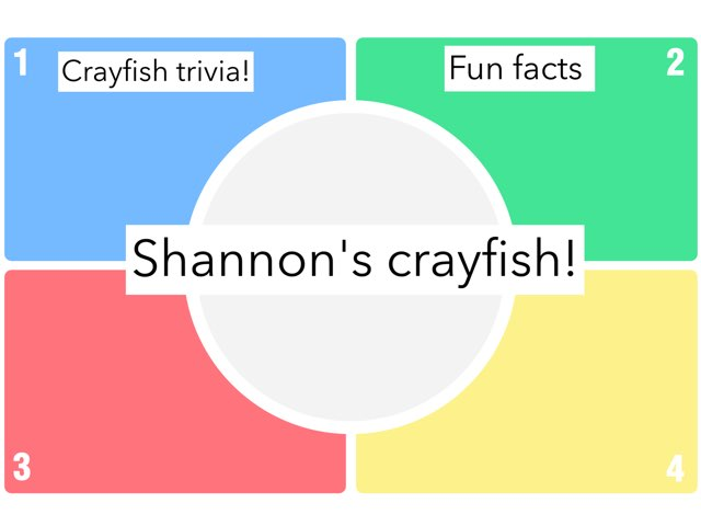 Shannon's Crayfish Quiz by Chris  Smith