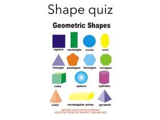Shape Quiz by P316 Classroom