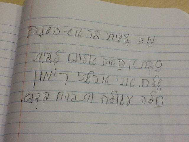 Shapes & Words In Hebrew by Liat Walker
