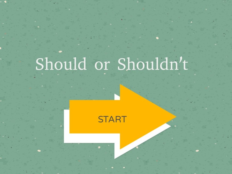 Should or Shouldn't by Sewic Jung