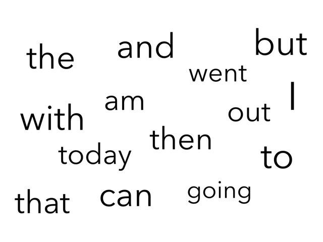 Sight Words 1 by Kanaeda Tipene