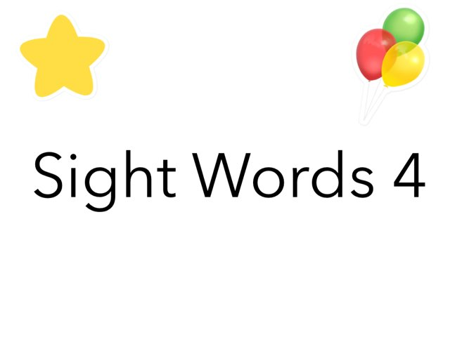 Sight Words 4 by Ta Ma