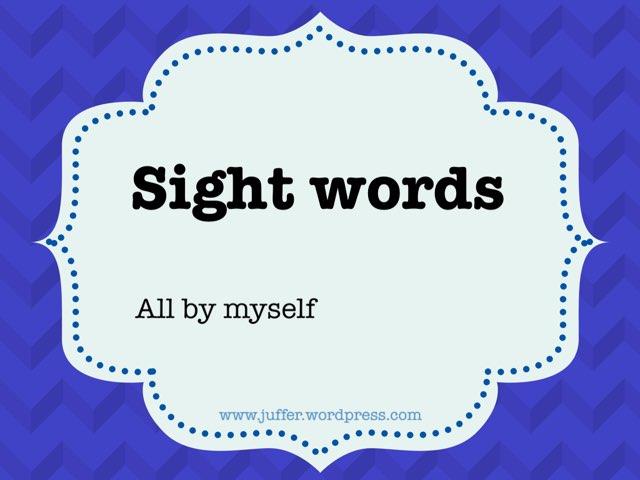Sight Words by Juffer Juffrou