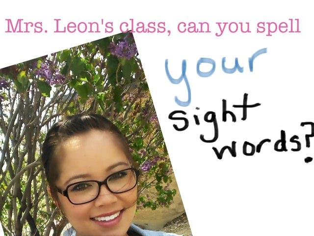 Sight Words by Mei Leon