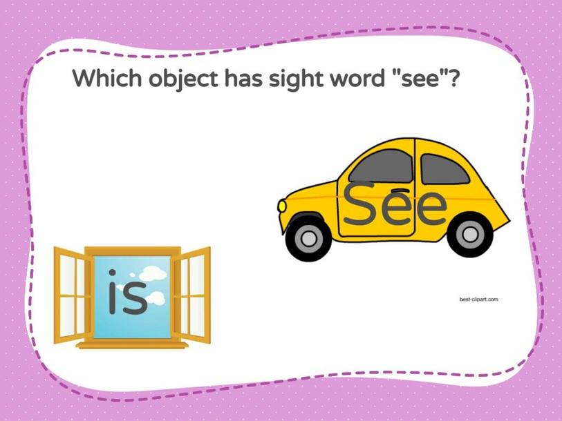 Sight Word See by Sara Algaw